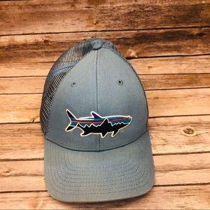 311b12120a7 Patagonia fish logo mesh trucker hat baseball cap